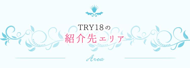 TRY18の派遣先エリア